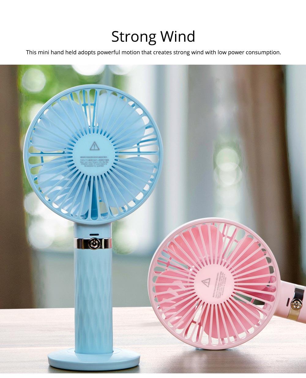 Rechargeable Portable Fan, Personal Handheld Fan for Office, Home, Travel, Small USB Desk Fan  2