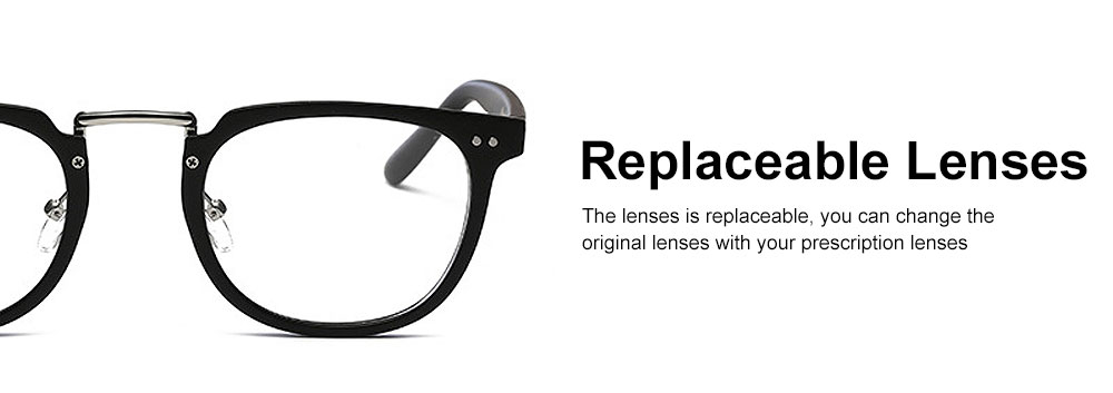 Oval Round Metal Eyeglasses Frame, Unisex Retro Glasses with Clear Replaceable Lens Spectacles 4