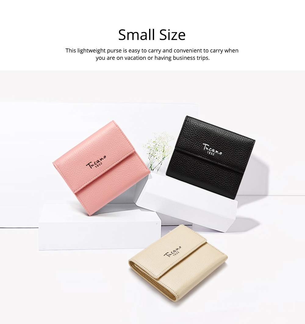 Cute Purse for Women with RFID Blocking, Small Simple Short Bifold Mini Coin Pocket for Cash Coin 3 Colors Optional Purse 5