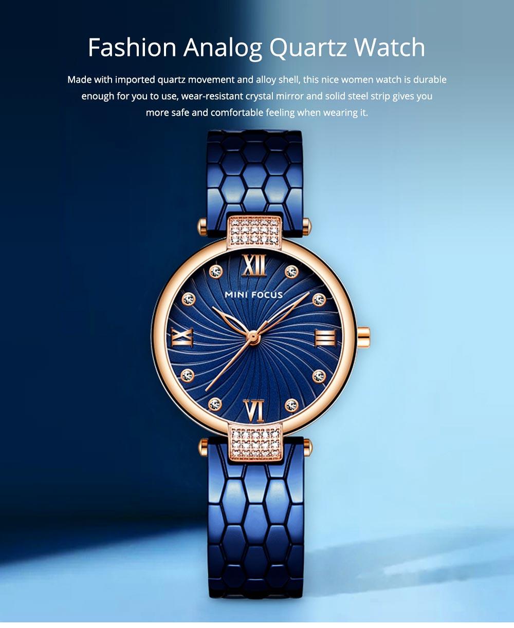 Elegant Women's Watch Stainless Steel Fashion Analog Quartz Watch 2019 Waterproof Wristwatch 0