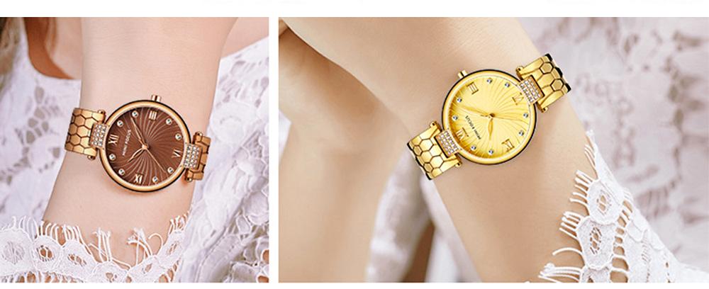 Elegant Women's Watch Stainless Steel Fashion Analog Quartz Watch 2019 Waterproof Wristwatch 8