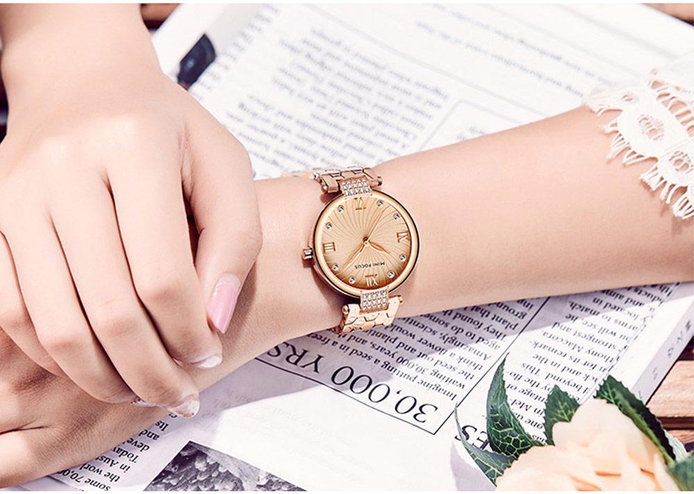 Elegant Women's Watch Stainless Steel Fashion Analog Quartz Watch 2019 Waterproof Wristwatch 9