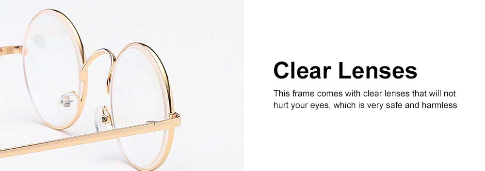 Round Metal Optical Eyewear, Retro Metal Frame Spectacles Frame, Vintage Lightweight Glasses Frame for Men Women 2