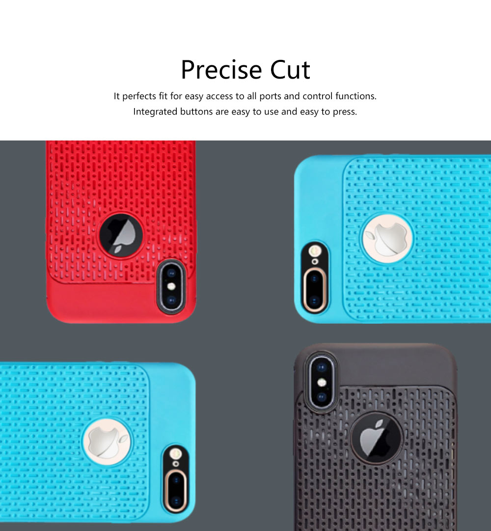 Plaid Solid Color Mobile Phone Case for iPhone, Ultra-Thin Anti-Fingerprint Phone Case for Apple iPhone X, XS, 6, 6S,7,8, 6S Plus, 8 Plus Soft Back Cover 4