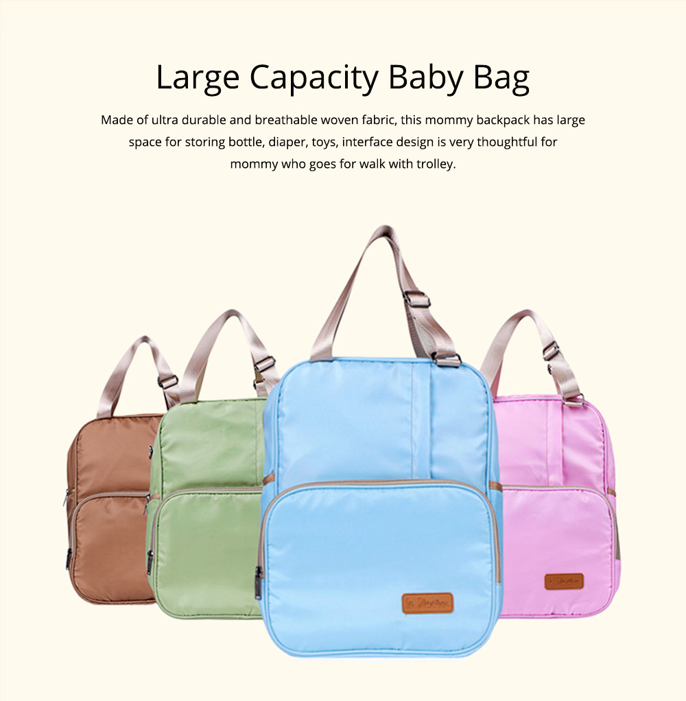 Diaper Backpack witg Large Capacity Mammy Bag, Multifunctional Travel Nappy Bag Fashionable Mommy Bag 0