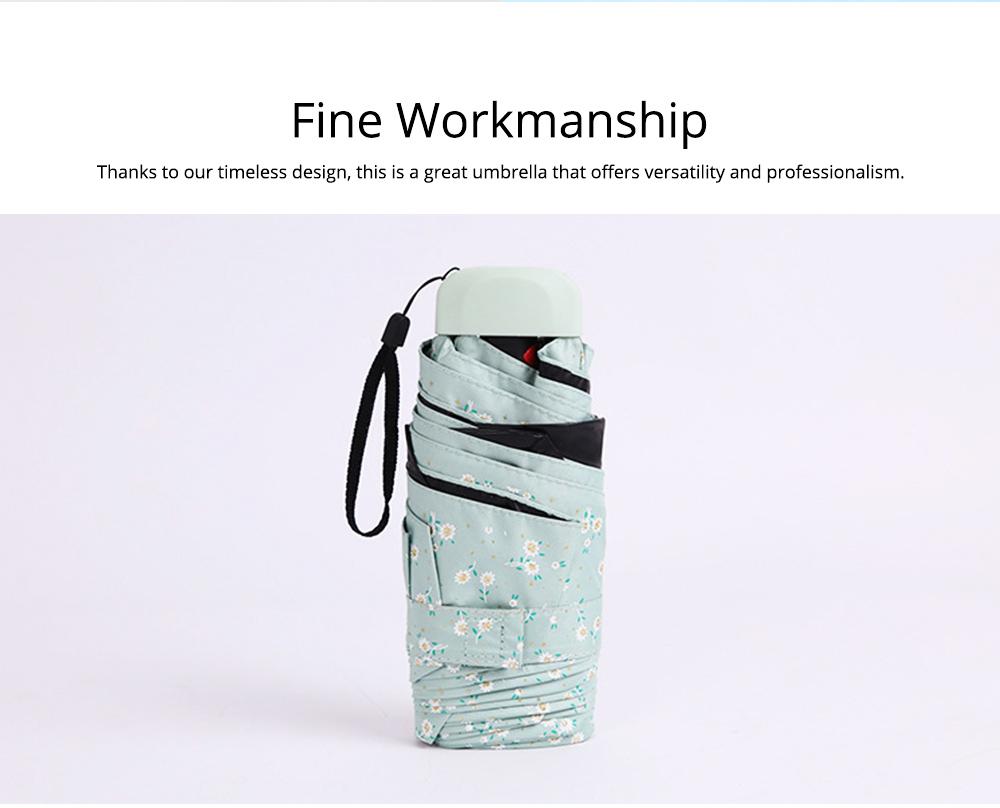 Mini Umbrella with Waterproof Case, Compact Umbrella Folding Pocket Umbrella Perfect for Outdoors 6