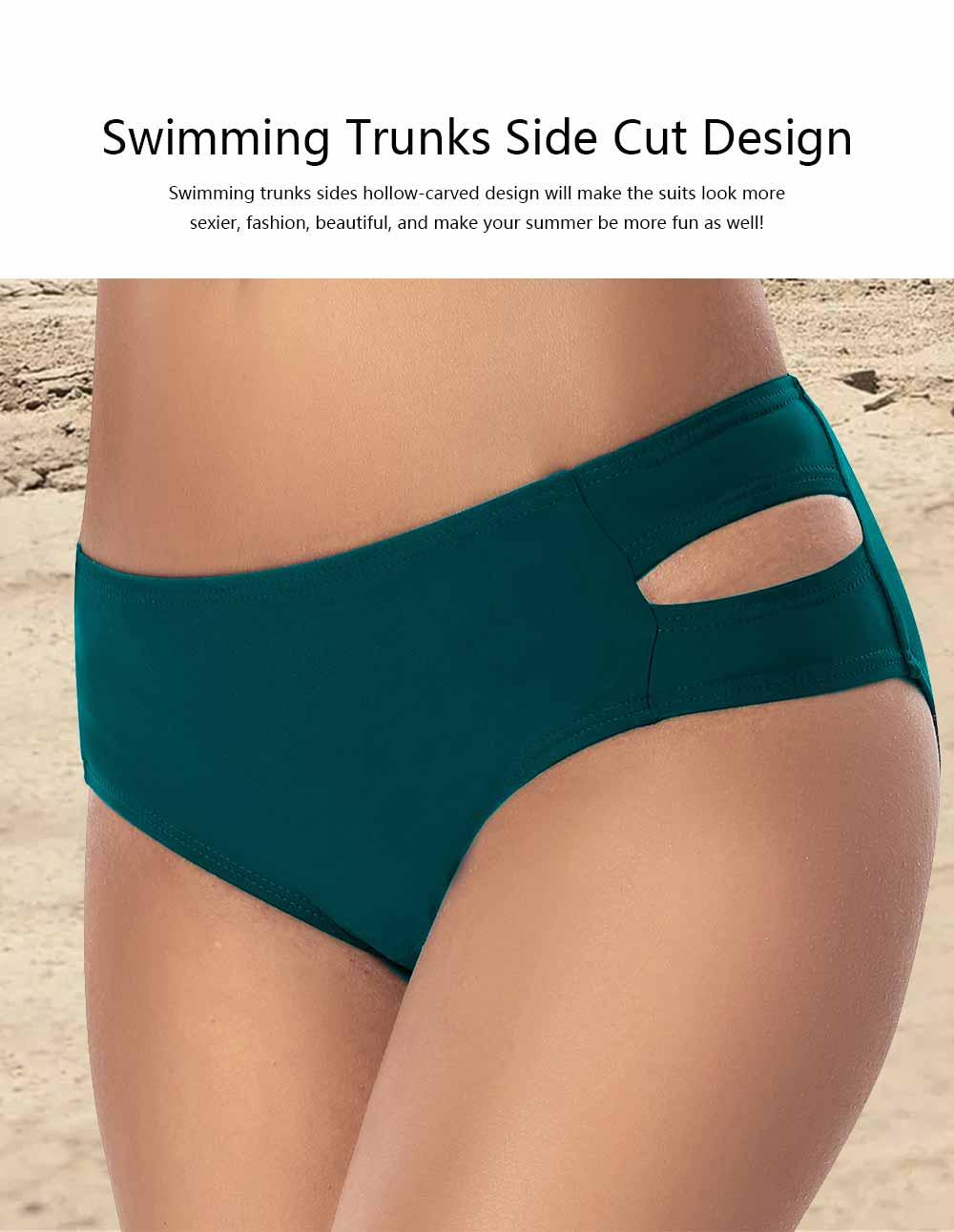 Women Cross Straps Bikini, Removeable Soft Cup Bikini, High Elastic Two Piece Swimming Suits for Ladies Girls 4