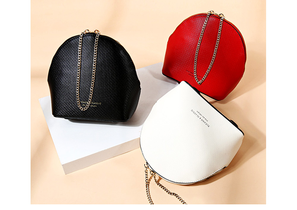 Shell Shape Shoulder Bag, Trendy Simple Style Women Crossbody Bag with Shoulder Chain 2019 New 2