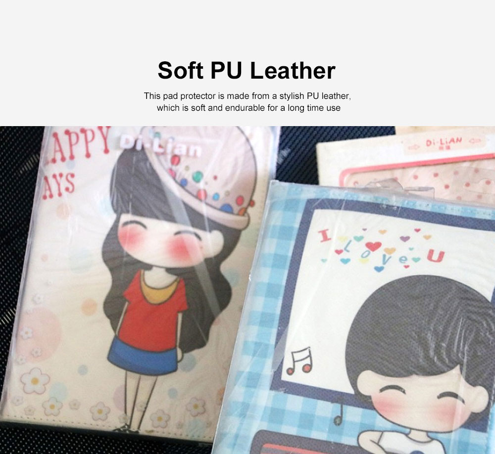 Universal Tablet Case PU Leather Full Protection Flip Cover with Cute Pattern Compatible for Xiaomi Mi Pad 1 3
