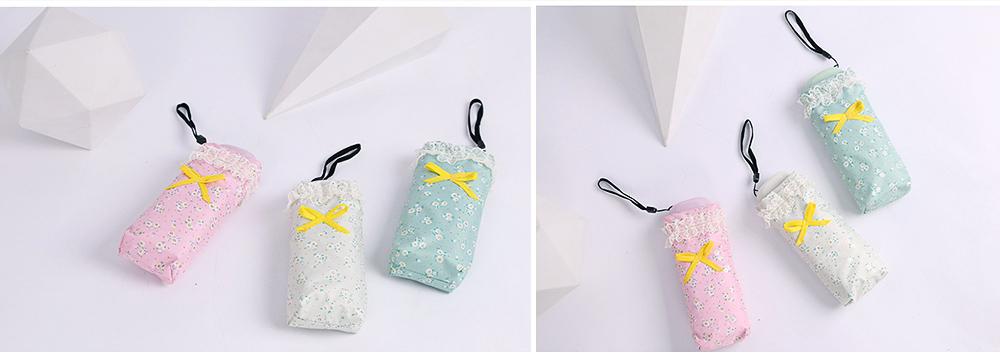 Mini Umbrella with Waterproof Case, Compact Umbrella Folding Pocket Umbrella Perfect for Outdoors 9