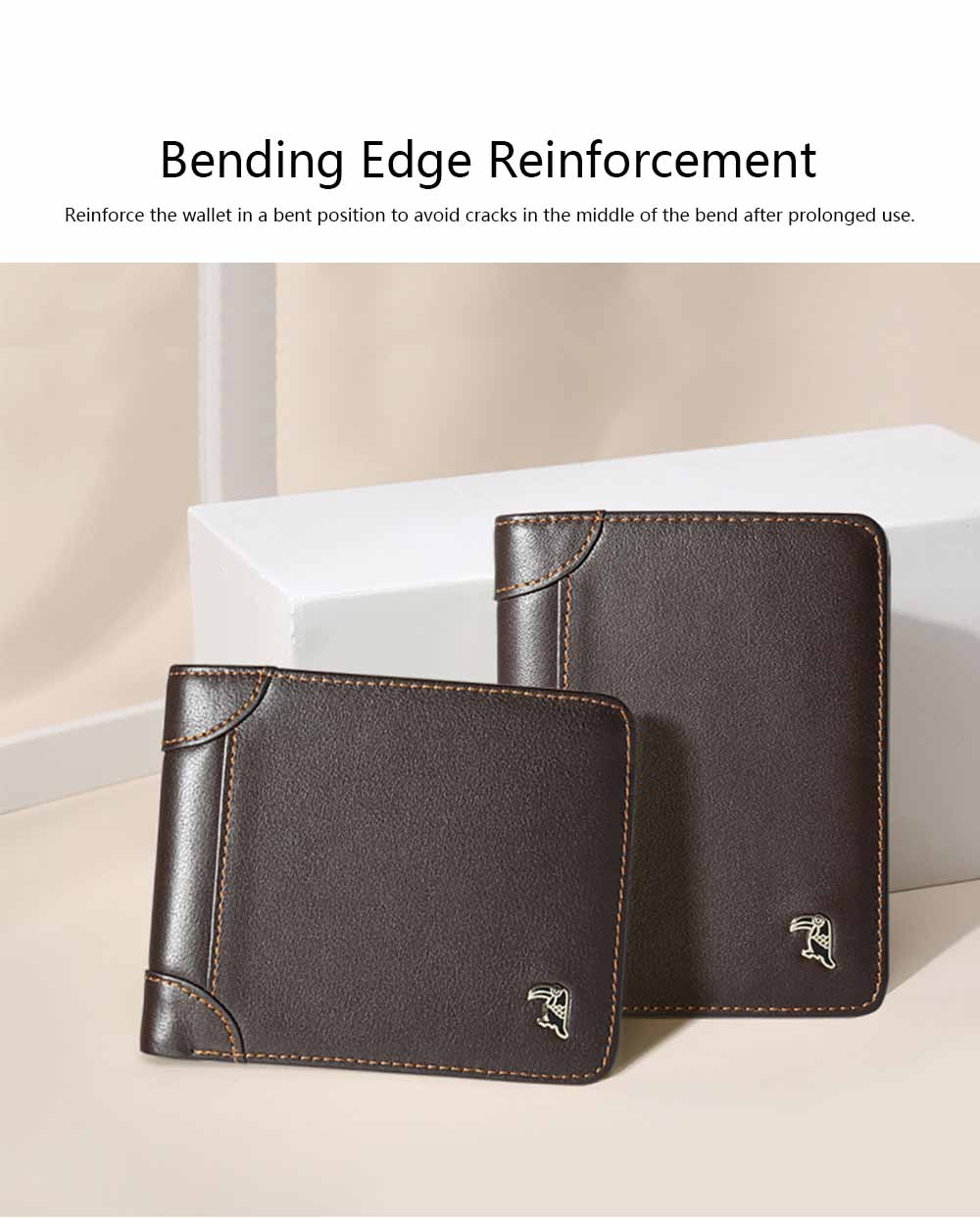 High-end Business Men Wallet, Multifunctional Wallet for Youth, Men's Leather Business Clutch Wrist Bags, Handbag Organizer Card Cash Holder 1