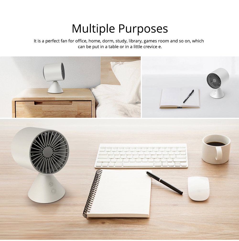 Rechargeable Battery USB Fan, Strong Wind Quiet Fan, Small Desk Fan for Home Office Travel Camping 7