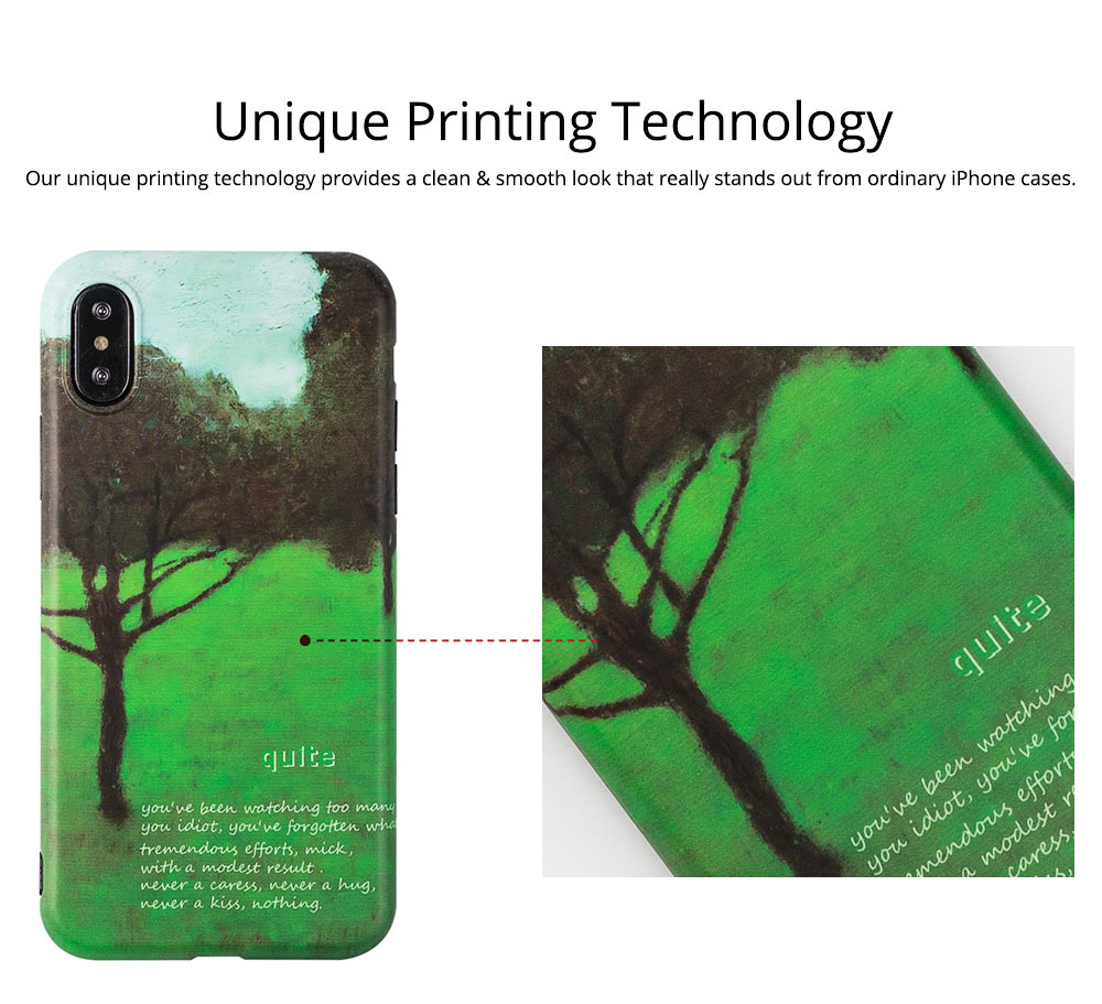 Green Tree Painting Phone Back Cover, Slim Bumper Phone Case for iPhone 6 6s, iPhone 6 plus 6 plus, iPhone 7 8, iPhone X XS, iPhone XS Max, iPhone XR 1