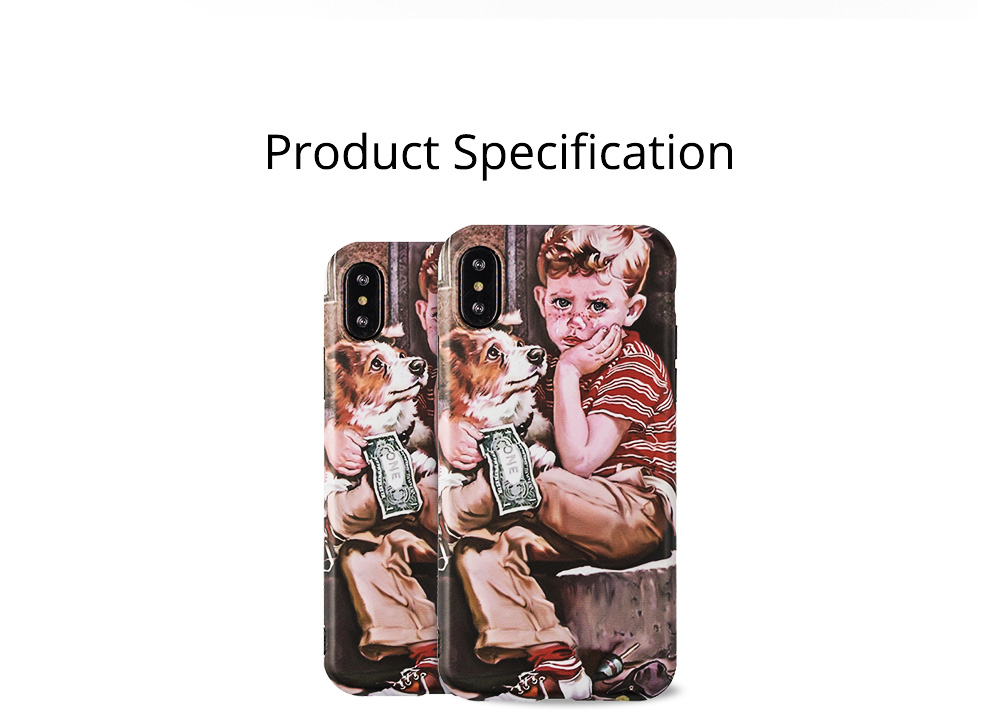 Artwork Phone Case, Soft TPU Phone Back Case, Anti-Scratch Anti-Finger Protective Cover for iPhone 6 6s, iPhone 6plus 6s plus, iPhone 7 8, iPhone X XS, iPhone XS Max, iPhone XR 8