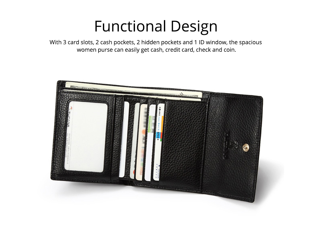 Cute Purse for Women with RFID Blocking, Small Simple Short Bifold Mini Coin Pocket for Cash Coin 3 Colors Optional Purse 3