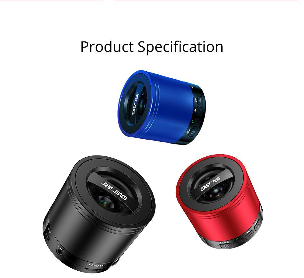 Wireless Mini Bluetooth Speaker, Brass Large Volume Speaker with Hand-Free Call Portable Speaker 7
