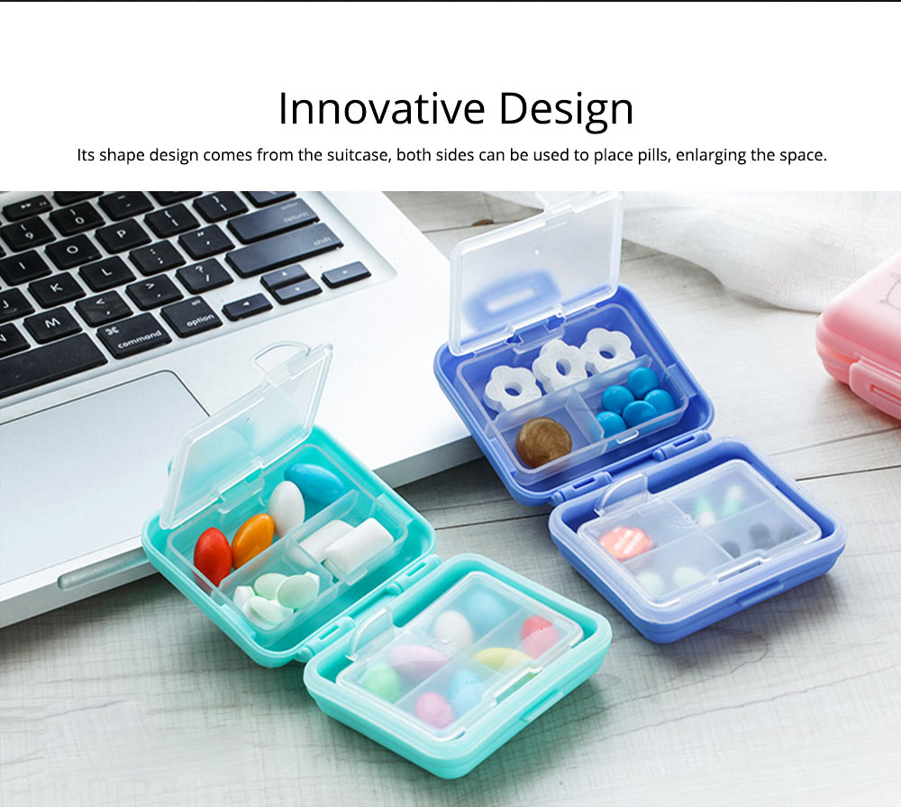 Cute Pill Box Portable 7 Compartments Medicine, Vitamin Plastic Pill Organizer BPA Free for Kids, Elderly 1