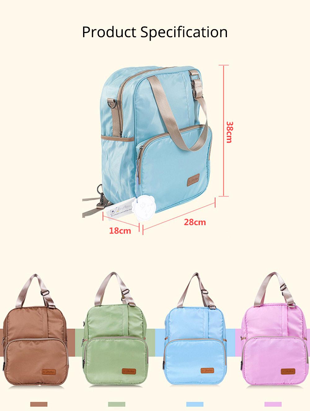 Diaper Backpack witg Large Capacity Mammy Bag, Multifunctional Travel Nappy Bag Fashionable Mommy Bag 9