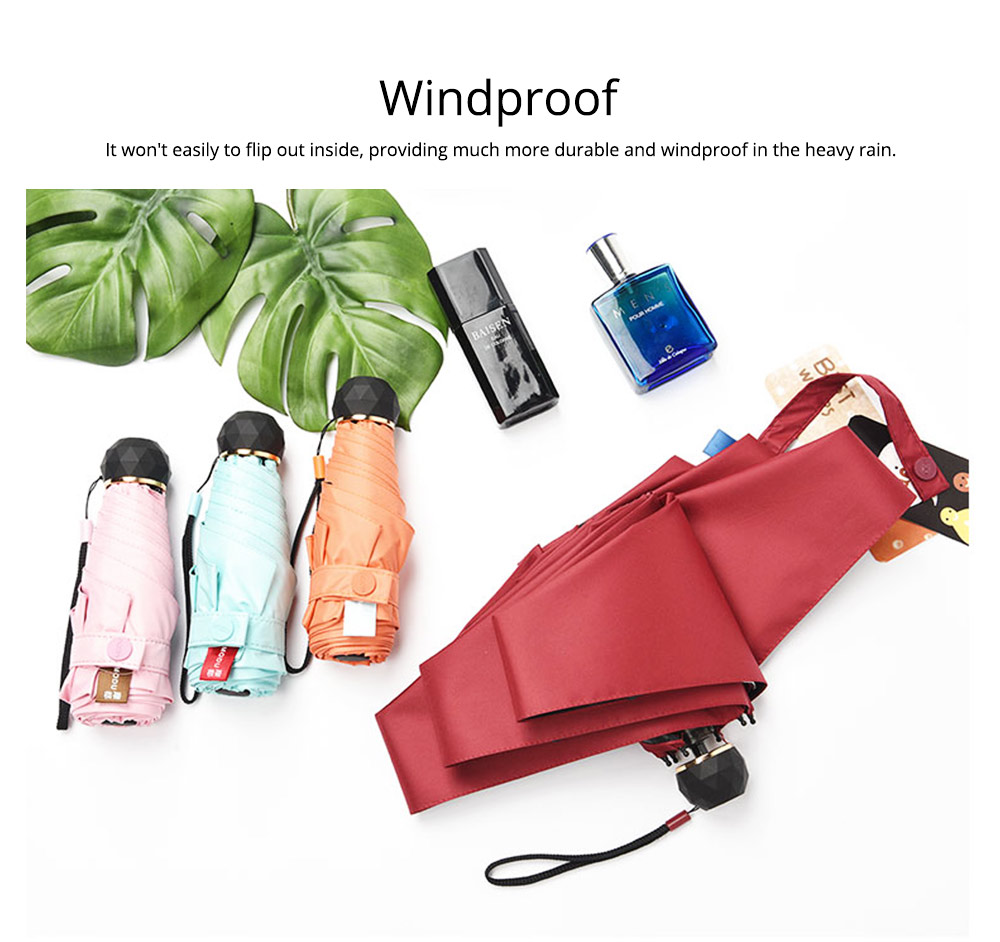 Windproof Umbrella with Sun & Rain Protection, Compact Portable Outdoor Travel Umbrellas for Men Women Kids 4