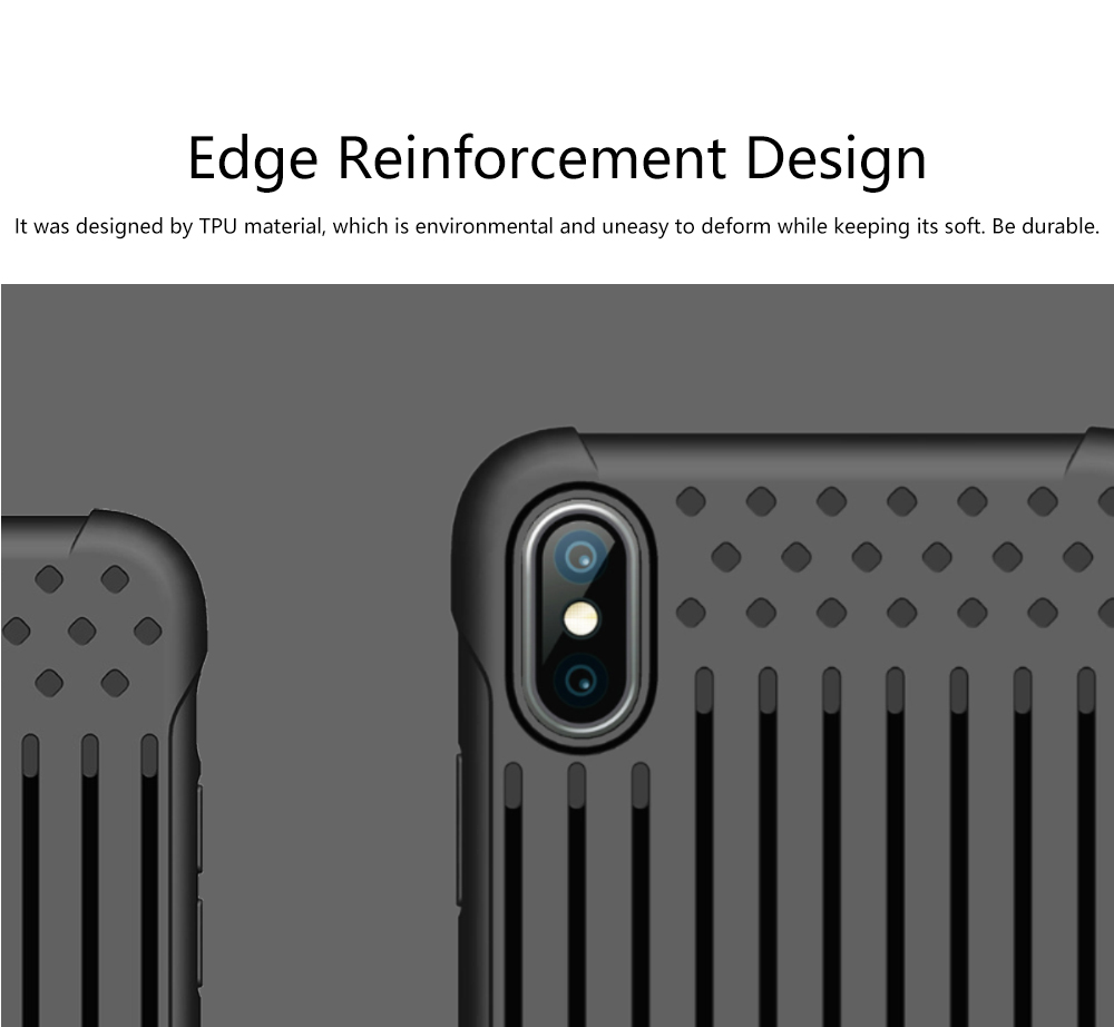 Stripe Phone Protective Case, Anti-fall Back Cover Anti-Scratch Shell for iPhone X, XS with Venting Holes 2
