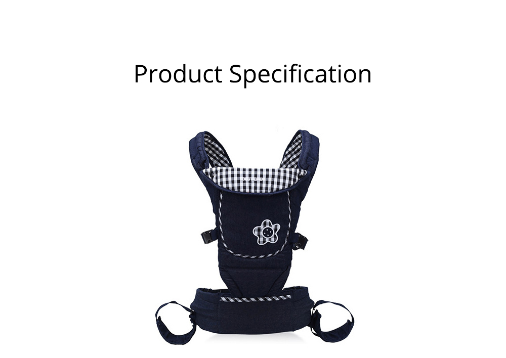 Portable Baby Waist Belt, Multifunctional Baby Carrier with Comfortable Back Pad Baby Carrying Strap 6