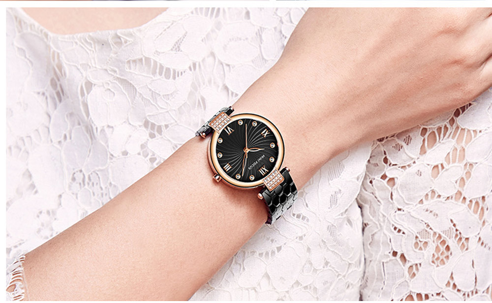 Elegant Women's Watch Stainless Steel Fashion Analog Quartz Watch 2019 Waterproof Wristwatch 5