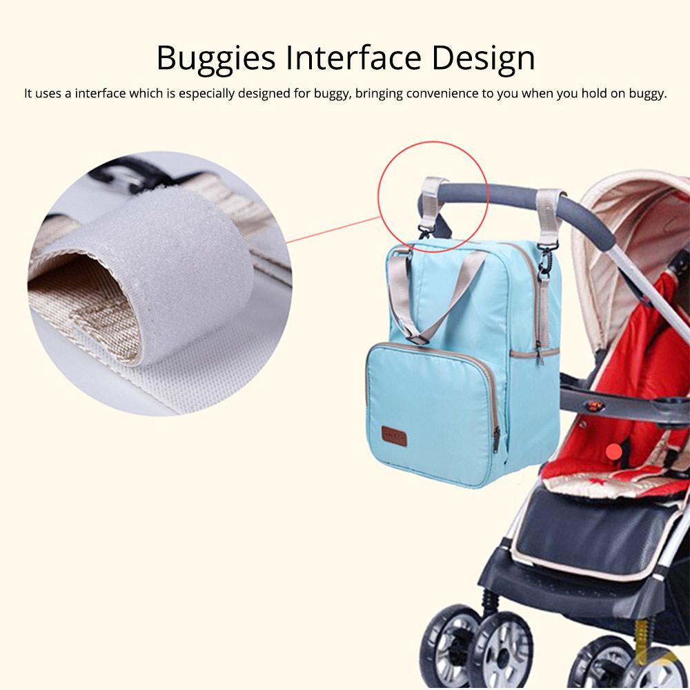Diaper Backpack witg Large Capacity Mammy Bag, Multifunctional Travel Nappy Bag Fashionable Mommy Bag 7