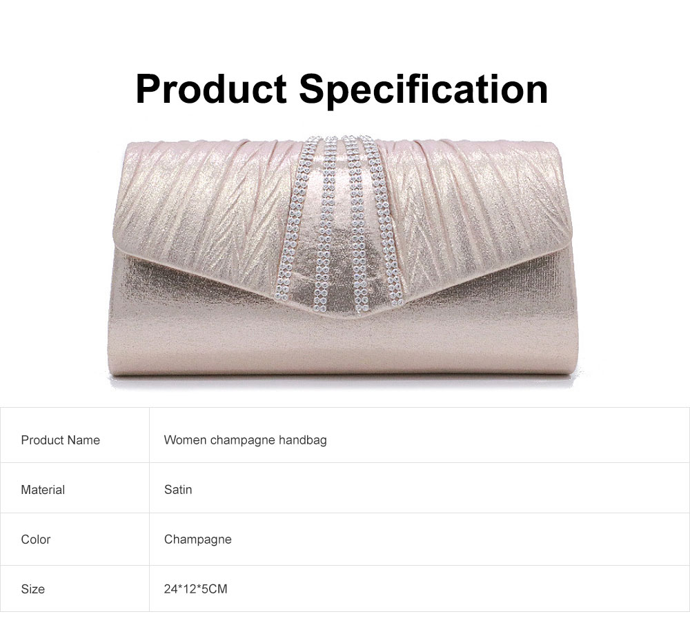 Shiny Clutch for Wedding Evening Party, Elegant Clutch with Chain for Ladies, Girls Shoulder Bag 6
