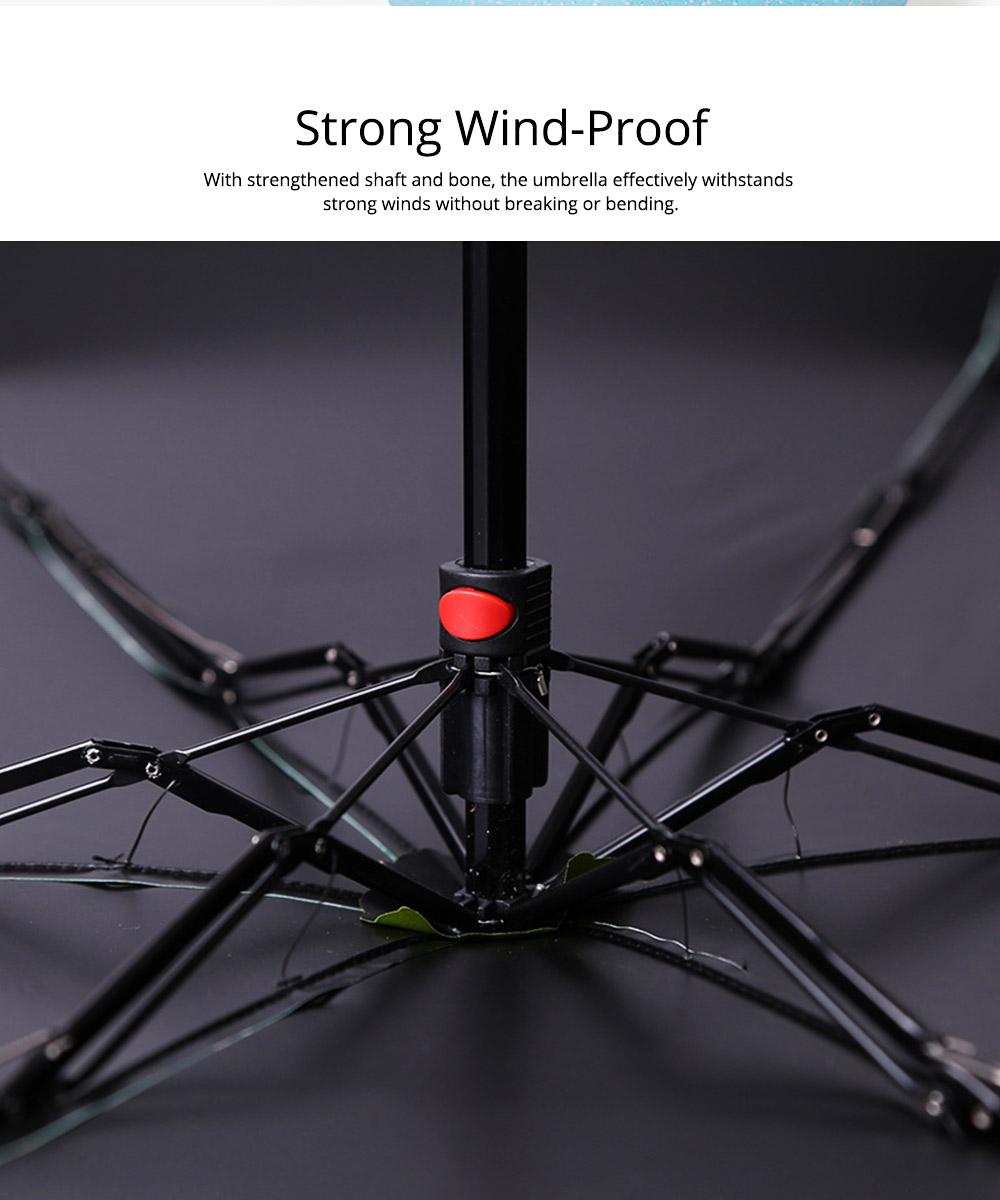 Mini Umbrella with Waterproof Case, Compact Umbrella Folding Pocket Umbrella Perfect for Outdoors 2