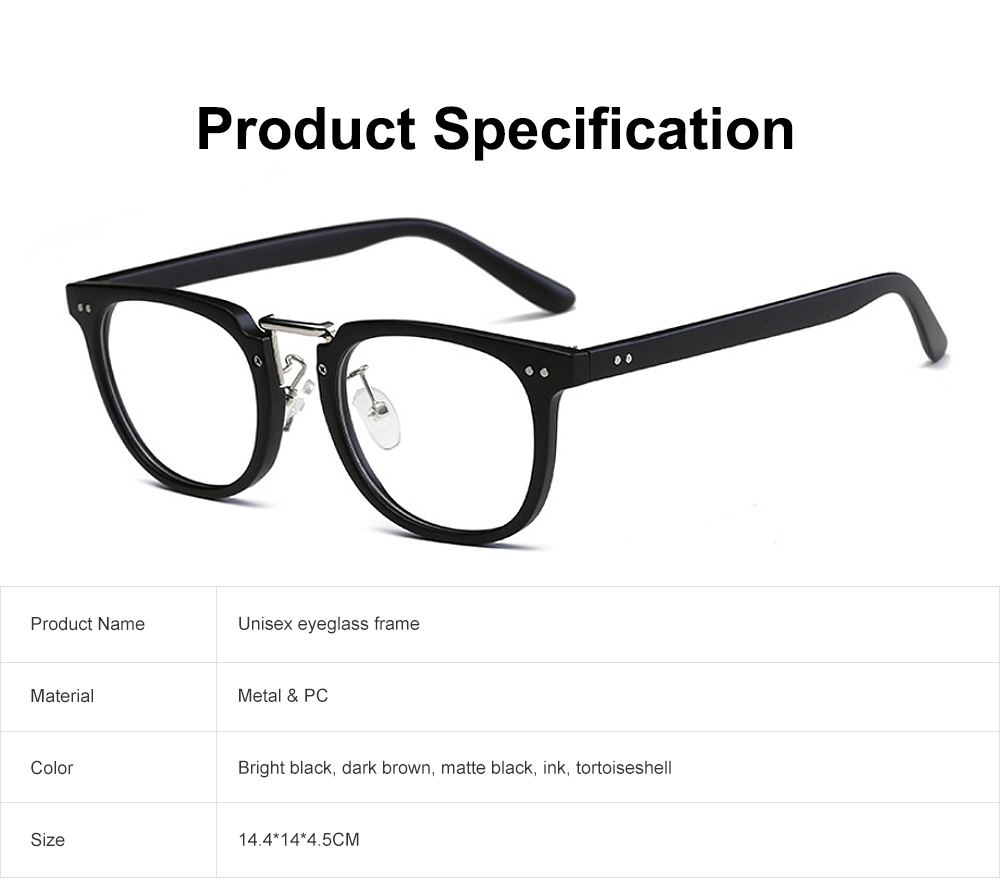 Oval Round Metal Eyeglasses Frame, Unisex Retro Glasses with Clear Replaceable Lens Spectacles 6