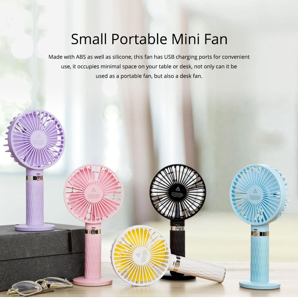 Rechargeable Portable Fan, Personal Handheld Fan for Office, Home, Travel, Small USB Desk Fan  0