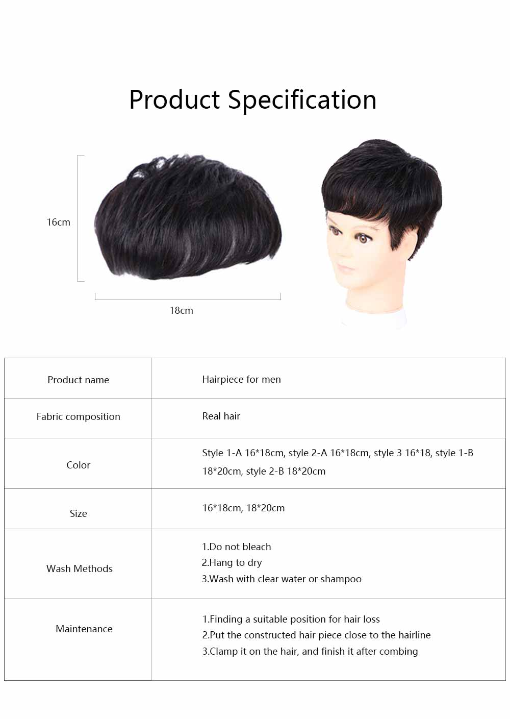 Men's Wigs, Hairpiece for Men, Natural Wig Hair Line for men with Hair Loss, Handsome Short Straight Human Hair Wigs 6