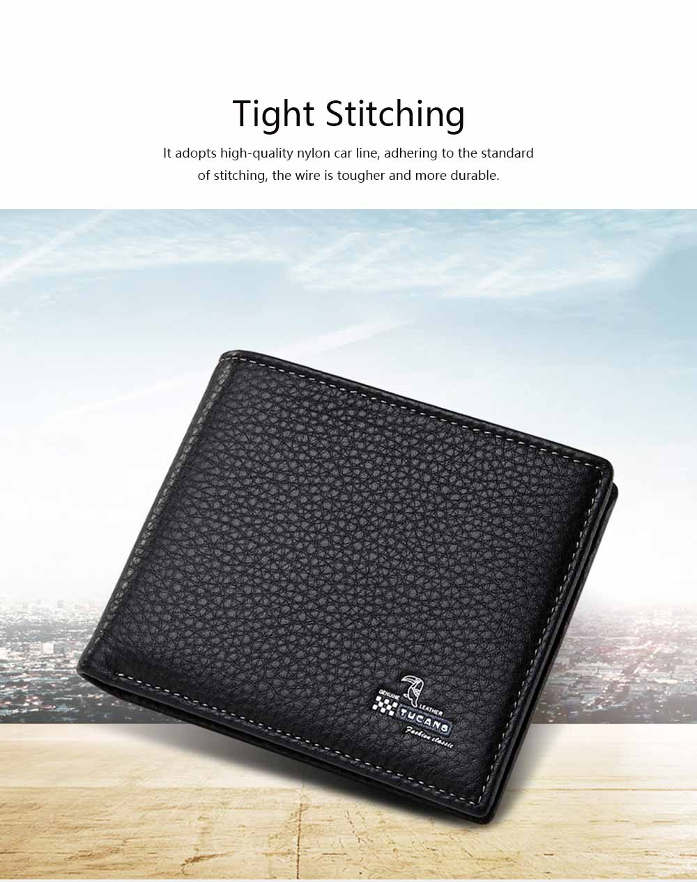 Bifold Side Flip Wallet, High-End Business Men Wallet, Men's Multifunctional Handbag, Extra Capacity Travel Wallet 4