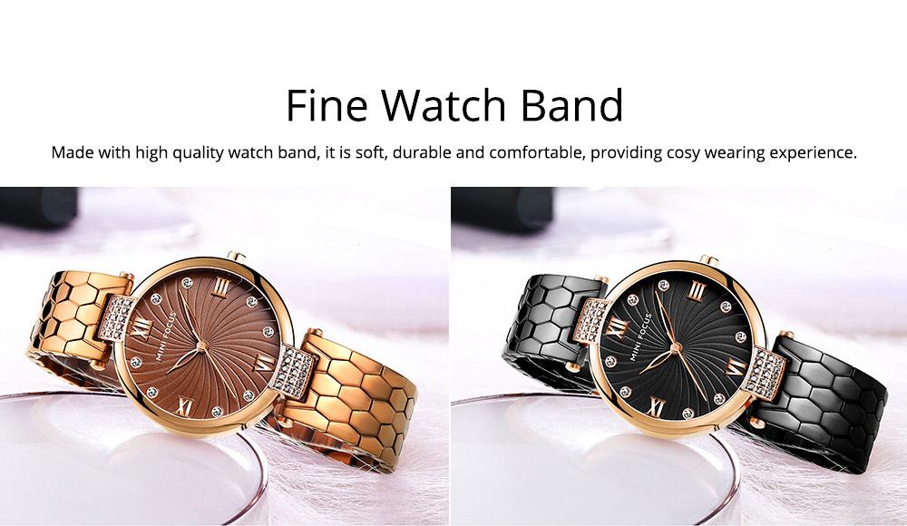 Elegant Women's Watch Stainless Steel Fashion Analog Quartz Watch 2019 Waterproof Wristwatch 6