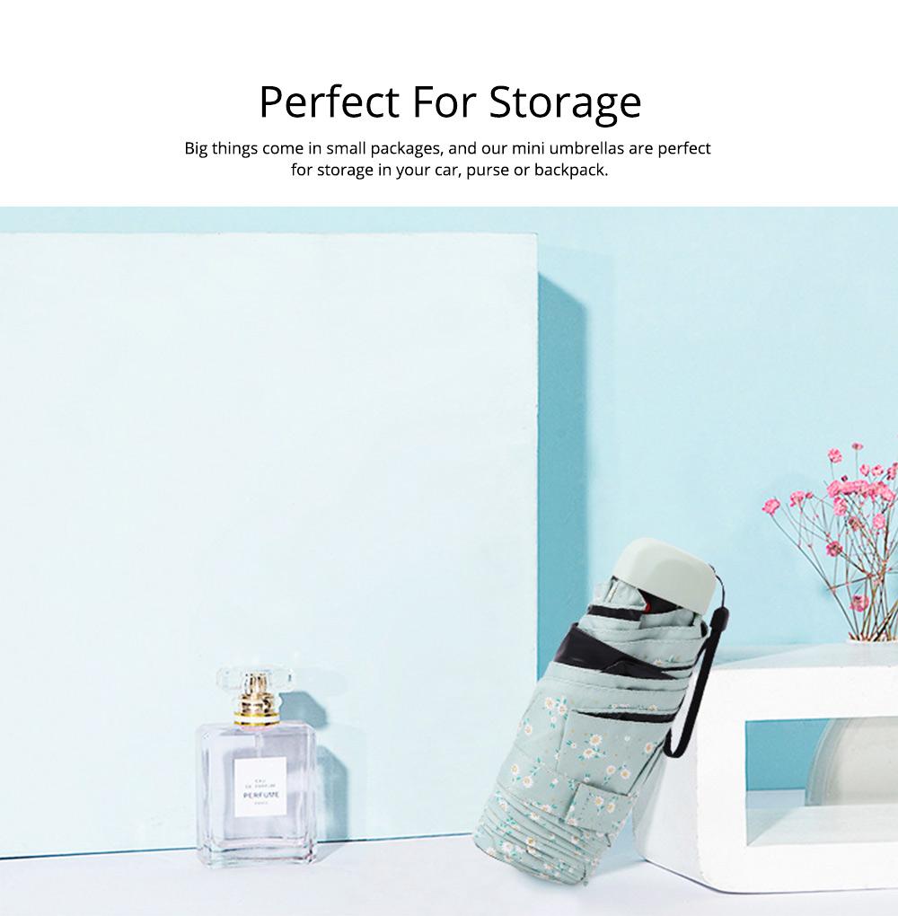 Mini Umbrella with Waterproof Case, Compact Umbrella Folding Pocket Umbrella Perfect for Outdoors 8