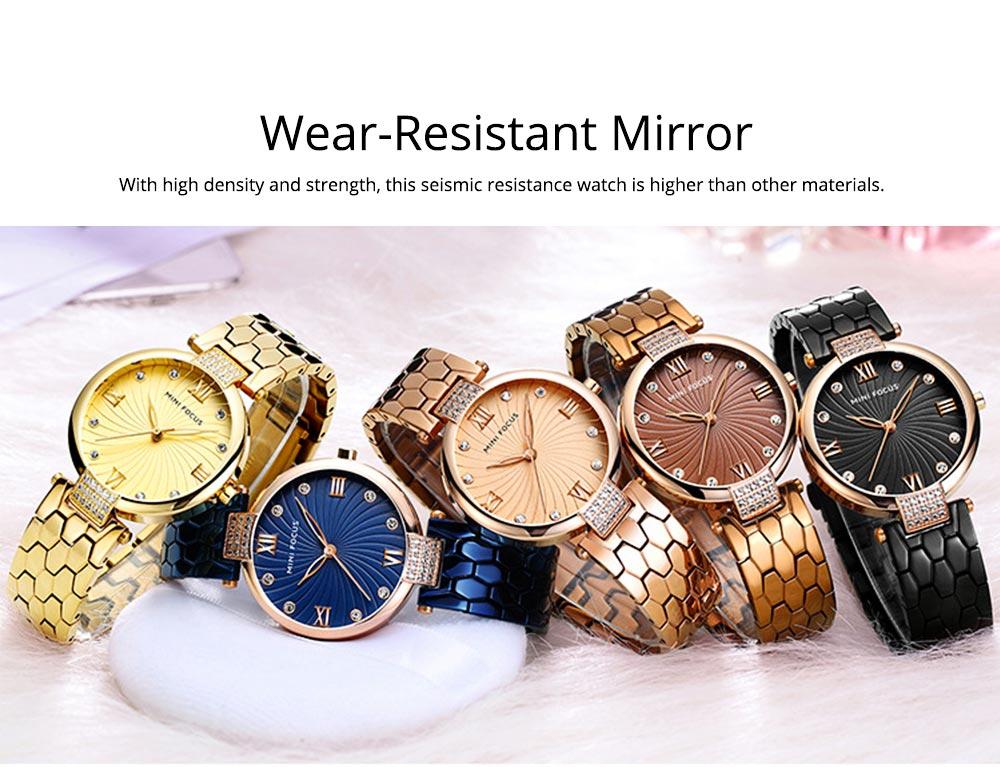 Elegant Women's Watch Stainless Steel Fashion Analog Quartz Watch 2019 Waterproof Wristwatch 1