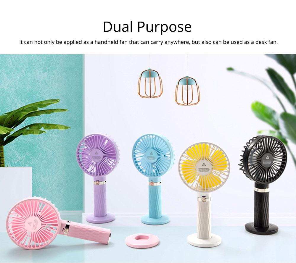 Rechargeable Portable Fan, Personal Handheld Fan for Office, Home, Travel, Small USB Desk Fan  5