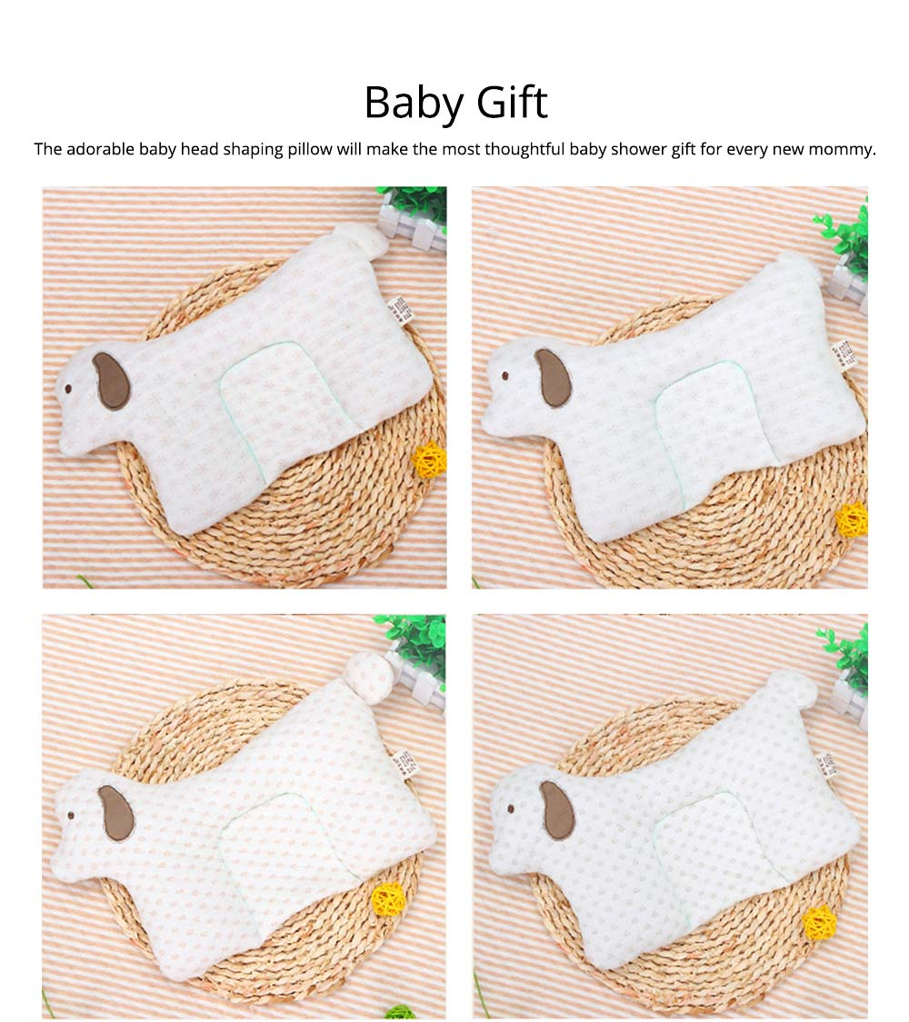 Newborn Baby Pillow, Breathable Organic Cotton Protection Pillow Prevent Flat Head Syndrome Baby Pillow 5