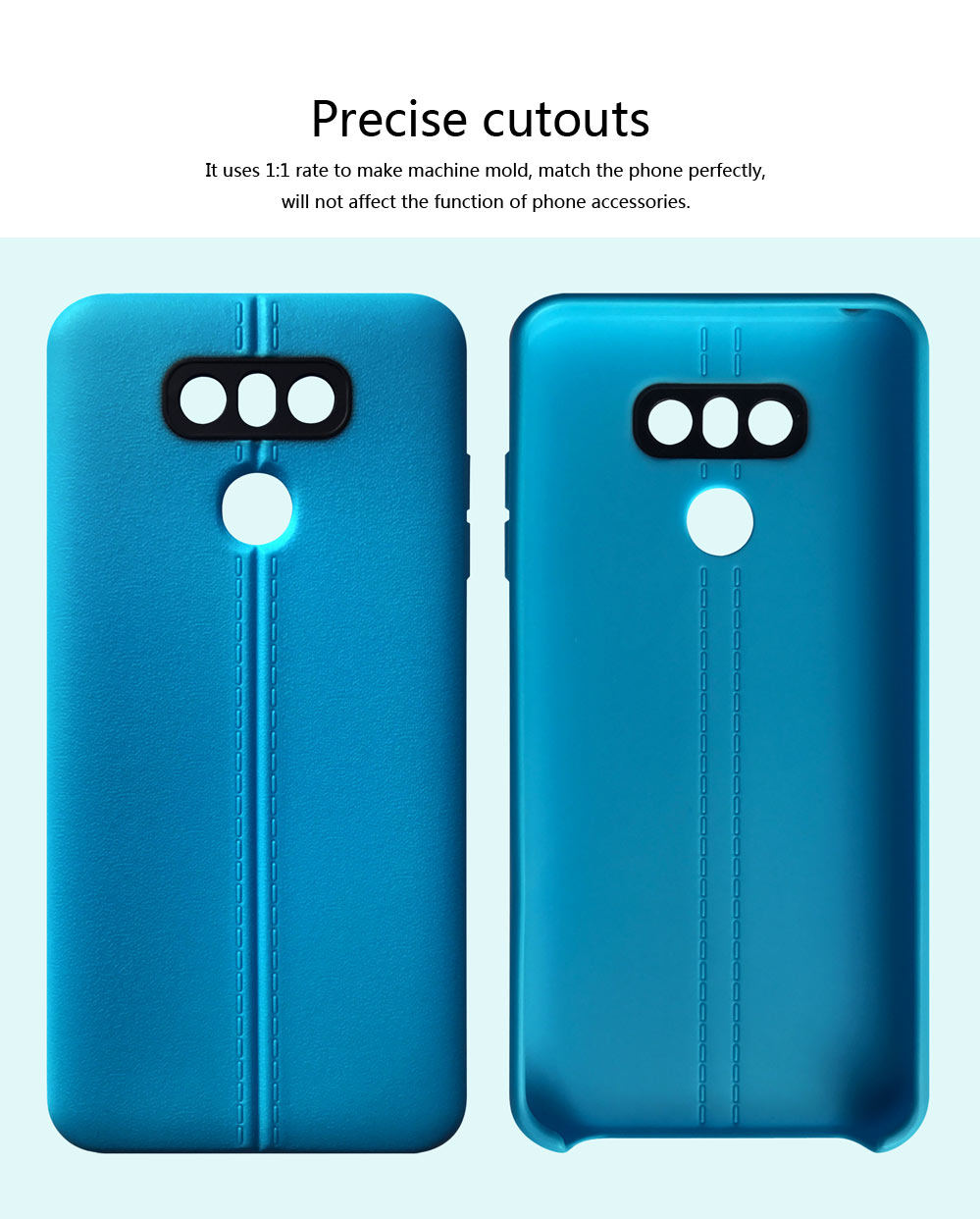 Double Line Phone Protector Case for LG G4 G6, Solid Color Anti-Fall Phone Cover, Minimalist TPU Back Cover 3