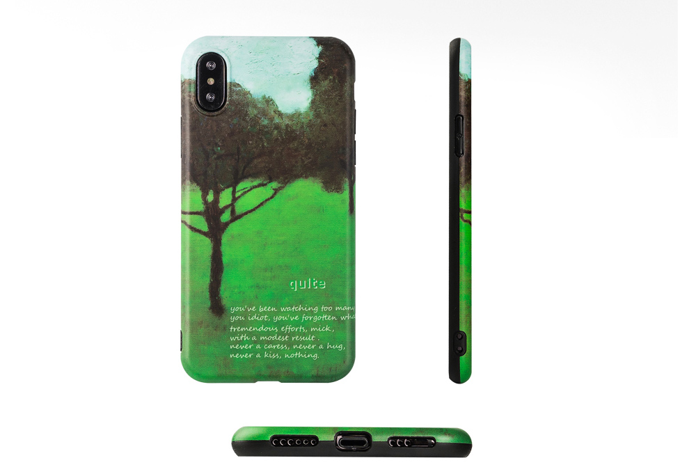 Green Tree Painting Phone Back Cover, Slim Bumper Phone Case for iPhone 6 6s, iPhone 6 plus 6 plus, iPhone 7 8, iPhone X XS, iPhone XS Max, iPhone XR 5