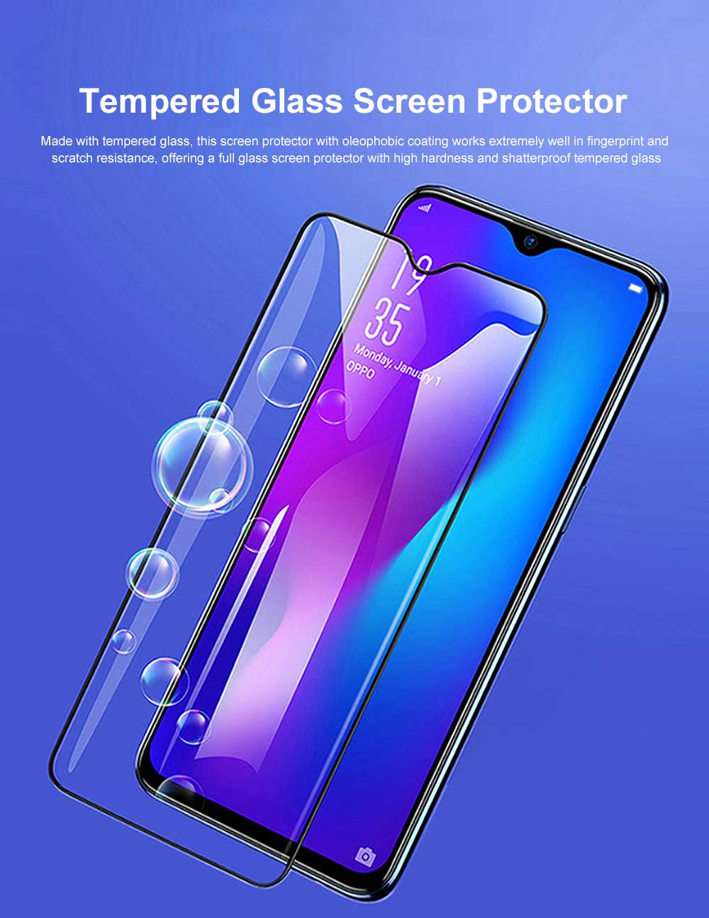Tempered Glass Screen Protector Full Screen Coverage, Anti-Fingerprint Bubble Free Protector for iPhone X or XS, iPhone XR, iPhone XS Max, iPhone7 or 8, iPhone 7 or 8 plus, iPhone 6 or 6S, iPhone 6S plus 0