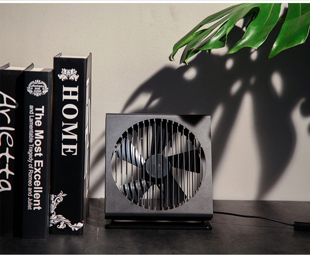 USB Rechargeable Desk Mini Fan with 90 Degrees Rotation, Strong Motion Compact Fan for Dorm Office Home 7 inches  6