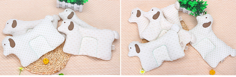 Newborn Baby Pillow, Breathable Organic Cotton Protection Pillow Prevent Flat Head Syndrome Baby Pillow 4