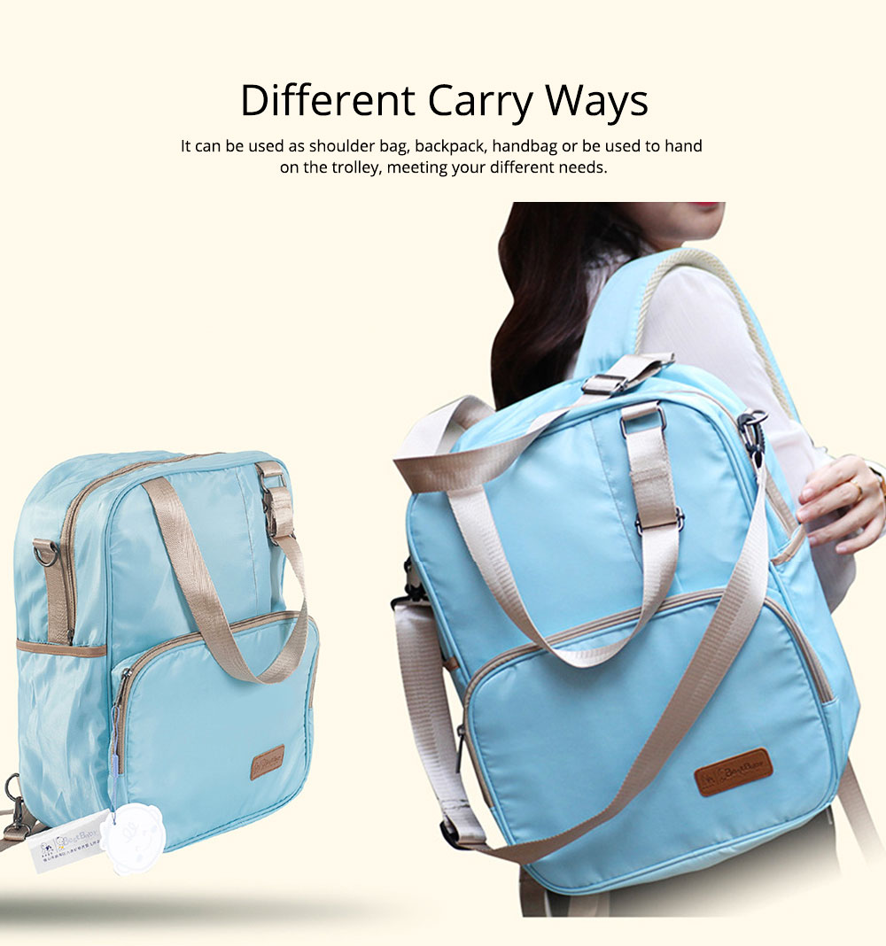 Diaper Backpack witg Large Capacity Mammy Bag, Multifunctional Travel Nappy Bag Fashionable Mommy Bag 4