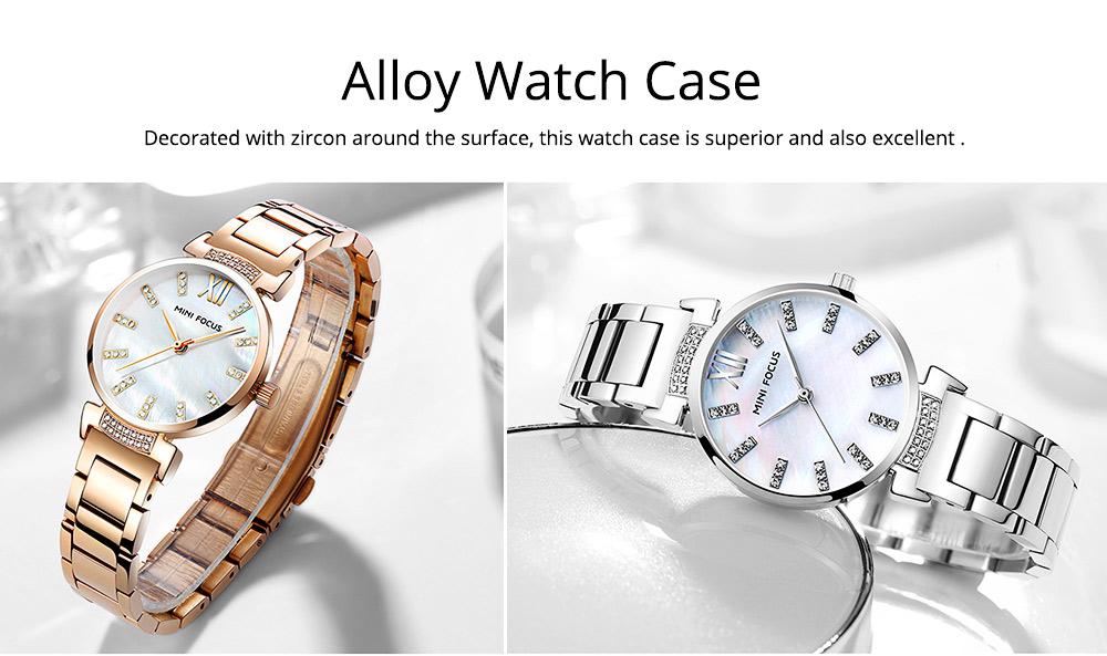 Diamond-mounted Fritillaria Watch for Women, Girls, Stylish Watch with Stainless Steel Watchband Waterproof 30M Wristwatch 4