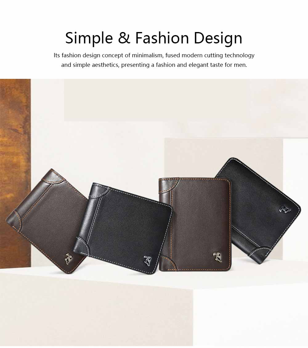 High-end Business Men Wallet, Multifunctional Wallet for Youth, Men's Leather Business Clutch Wrist Bags, Handbag Organizer Card Cash Holder 4