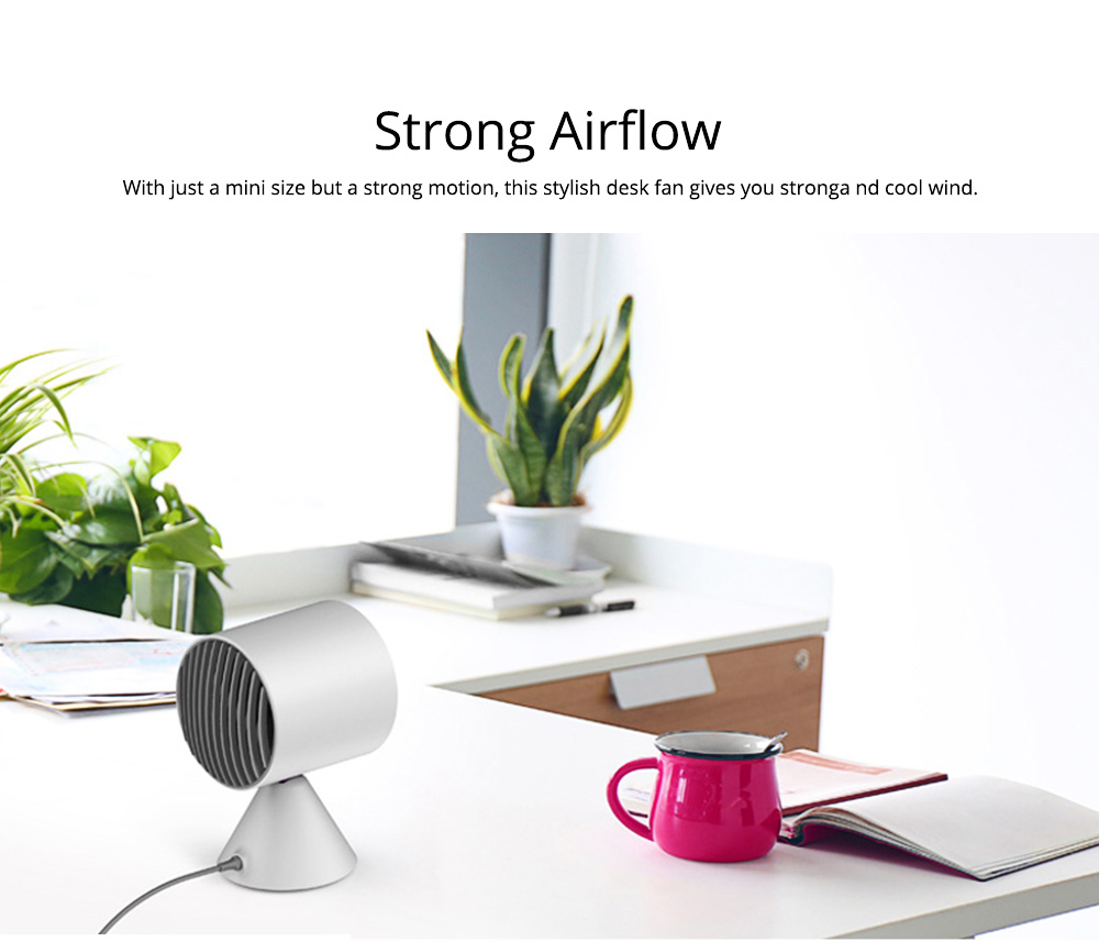 Rechargeable Battery USB Fan, Strong Wind Quiet Fan, Small Desk Fan for Home Office Travel Camping 5