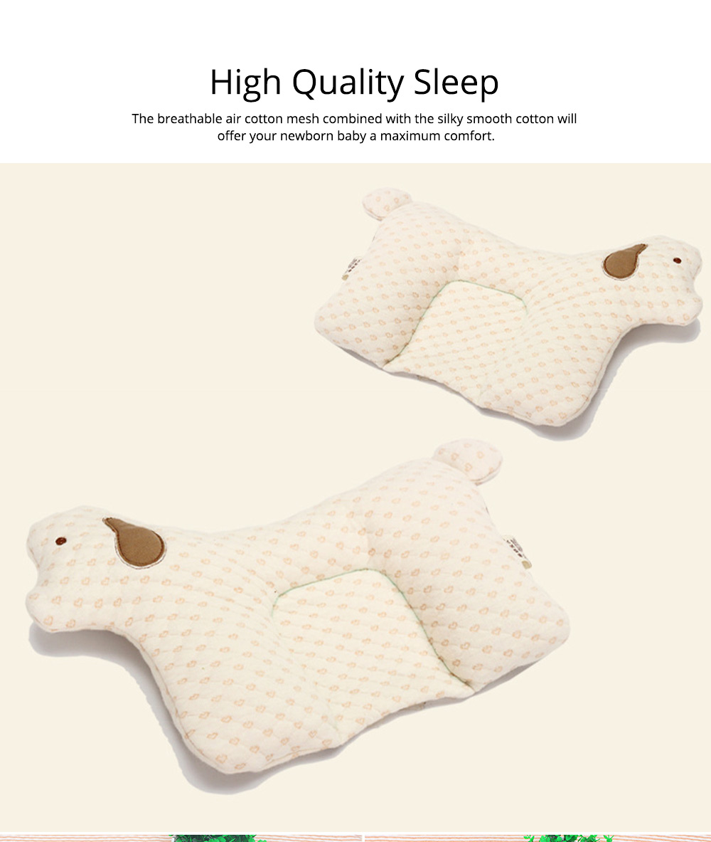 Newborn Baby Pillow, Breathable Organic Cotton Protection Pillow Prevent Flat Head Syndrome Baby Pillow 3
