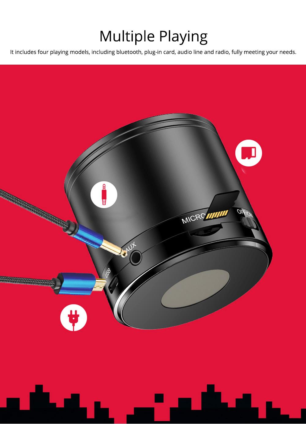 Wireless Mini Bluetooth Speaker, Brass Large Volume Speaker with Hand-Free Call Portable Speaker 3