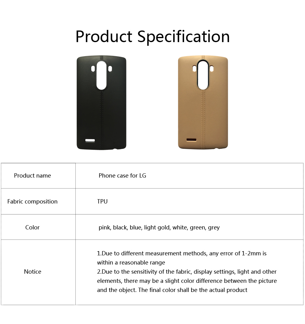 Double Line Phone Protector Case for LG G4 G6, Solid Color Anti-Fall Phone Cover, Minimalist TPU Back Cover 5